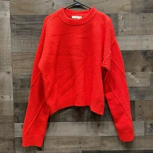 Tory Burch Oversized Sweater Red Large Wool